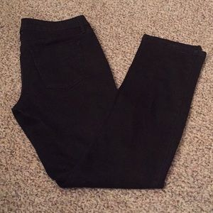 Mossimo Mid-Rise Straight Leg Black Jeans